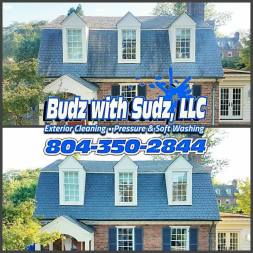 Low pressure, safe cleaning of slate roofs!