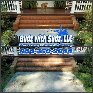 Power Washing these stairs in Prince George, Virginia