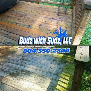 Wood restoration and power washing in Hopewell Virginia